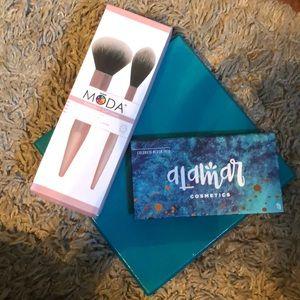 Alamar Cosmetics,Moda Powder & Soft Glow Brush Set